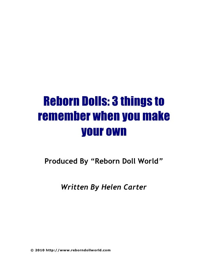 Reborn dolls-things-to-remember