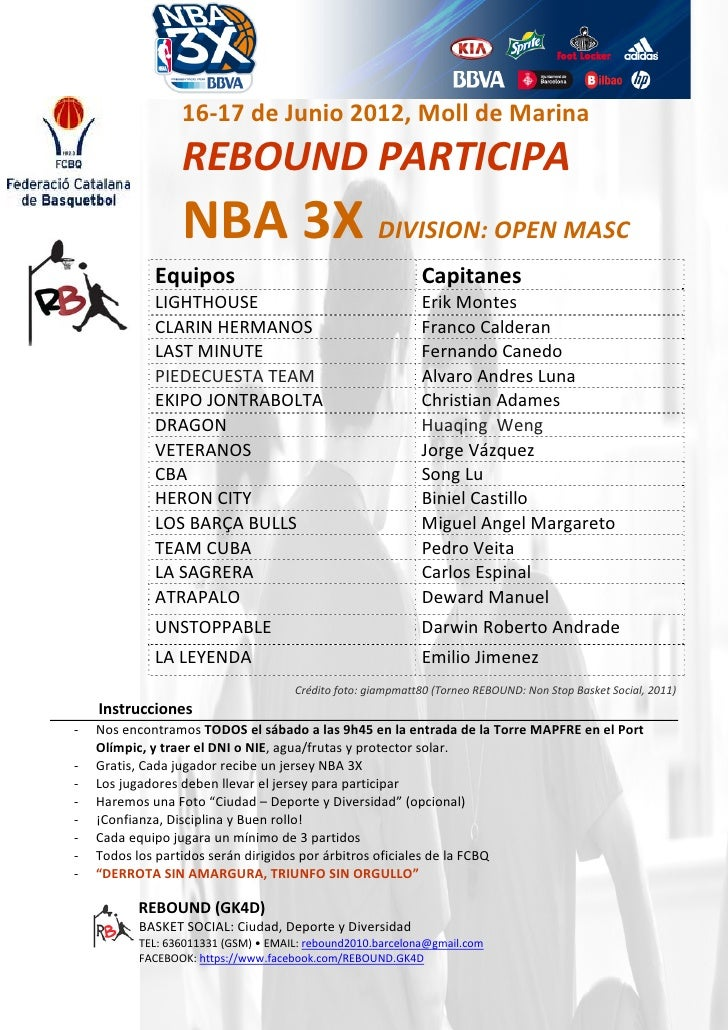 Rebound participa nba3x_fcb_2012