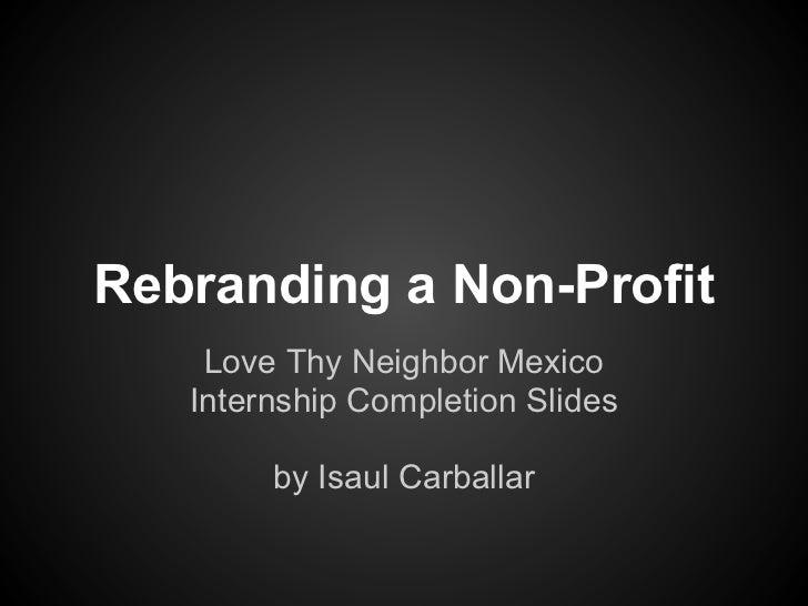 Rebranding a Nonprofit