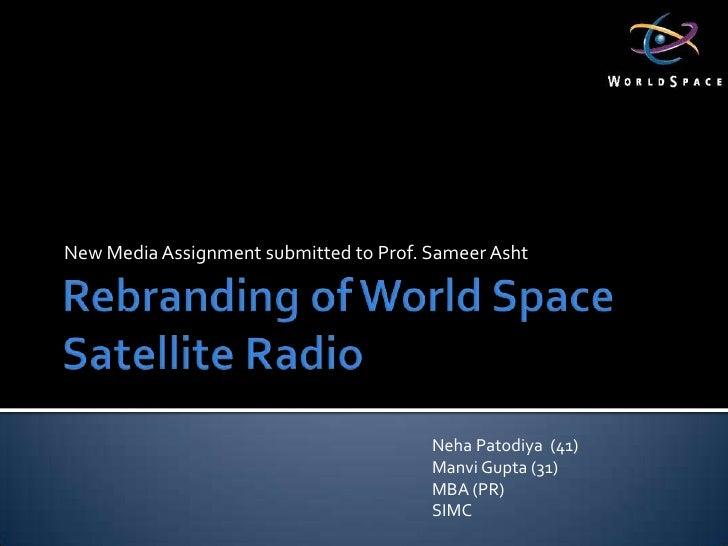 Rebranding Of World Space Radio