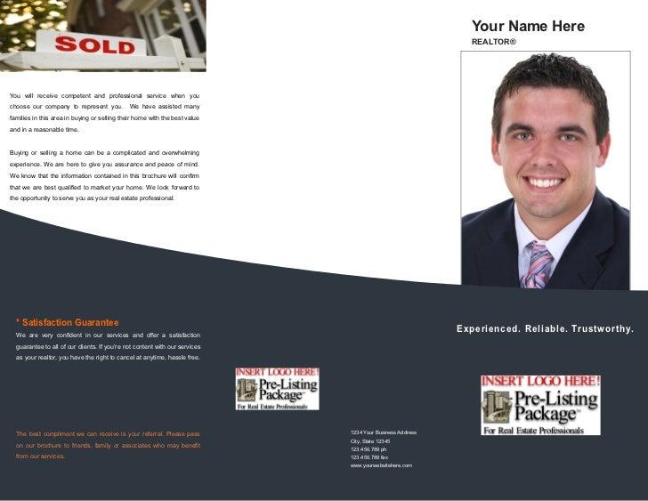 Listing Presentation Real Estate Templatereal