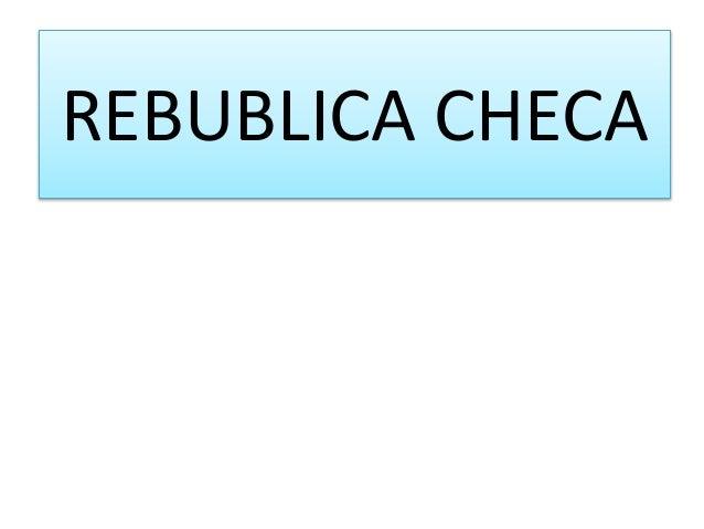 REBUBLICA CHECA