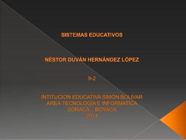 Como se define los sistemas educativos, estos se definen una base fundamental para todas las personas principalmente para ...