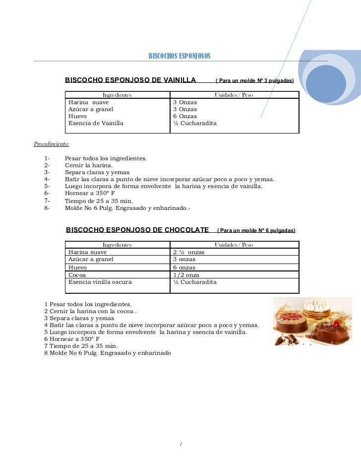 biscohcos y coberturas cremosas