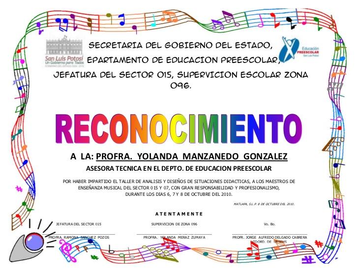 Certificados De Reconocimientos Para Preescolar