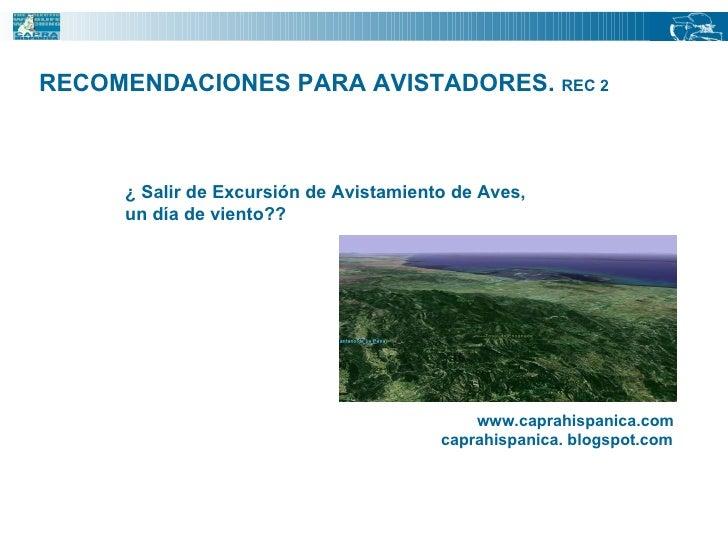 RECOMENDACIONES PARA AVISTADORES.  REC 2 ¿ Salir de Excursión de Avistamiento de Aves,  un día de viento?? www.caprahispan...