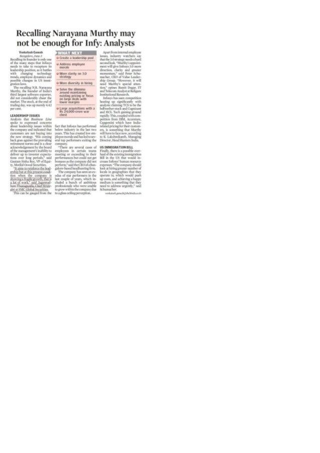 Recalling narayana murthy :- The Hindu