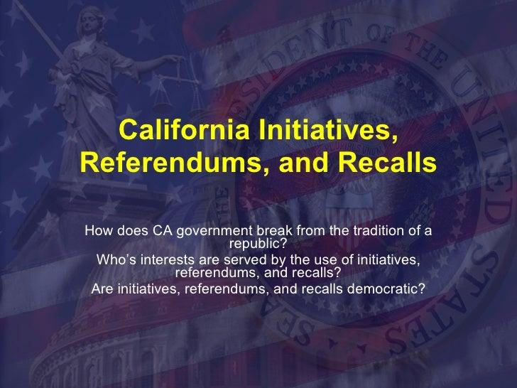 Recall,Initiative, Referendum2