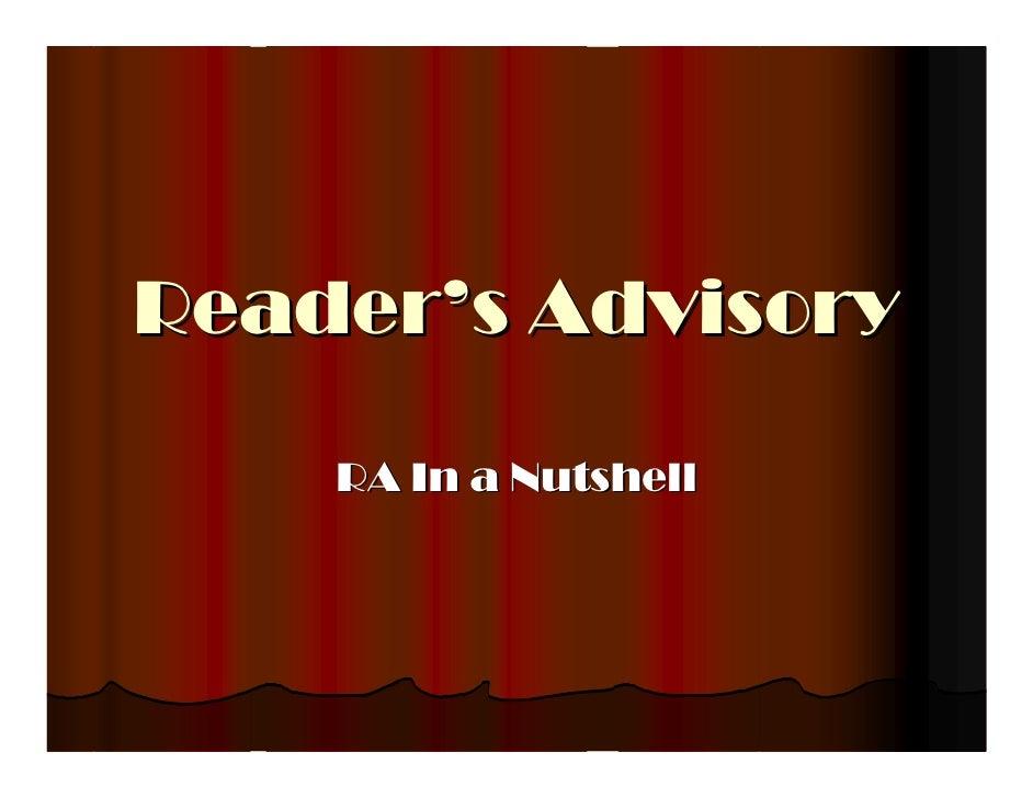Reader's Advisory Recap & Genres