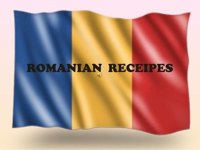 ROMANIAN RECEIPES