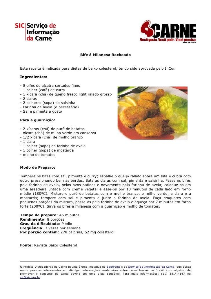 Receita Bife à Milanesa Recheado