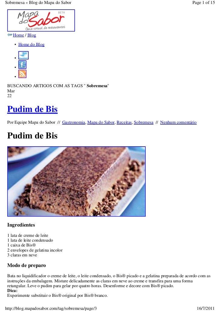 Sobremesa « Blog do Mapa do Sabor                                                                       Page 1 of 15    Ho...