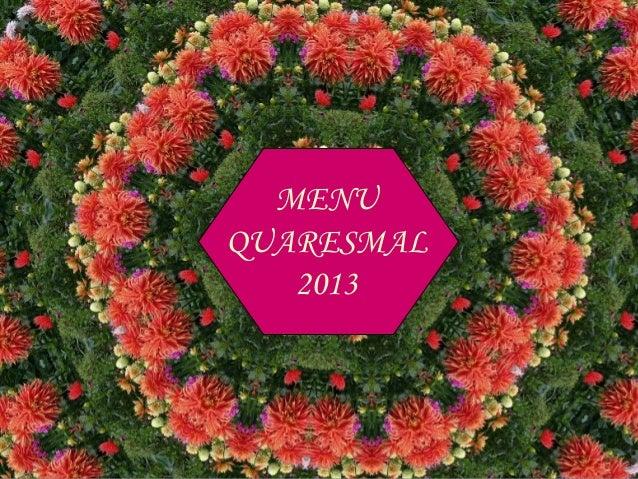 Receita Quaresmal 2013