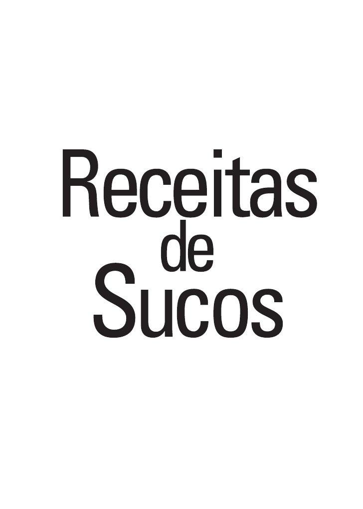 Receitas De Sucos