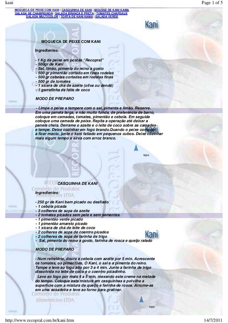 kani                                                                                        Page 1 of 5       MOQUECA DE P...