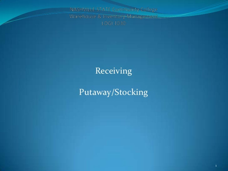Receiving putaway