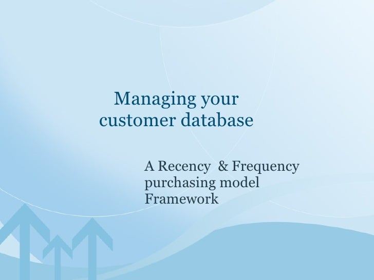 Managing Your Customer Database