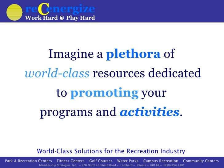 reCenergize presentation 2012 - slideshare