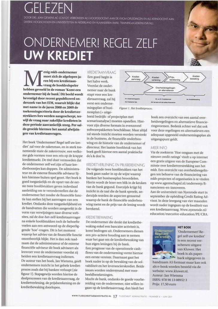 Recensie orzuk in tijdschrift voor administratie