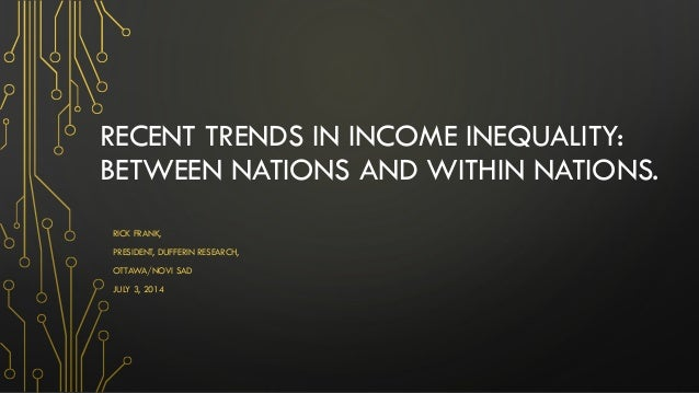 Recent trends in Income Inequality