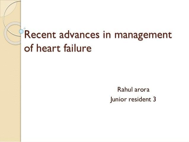 Recent advances in management of heart failure