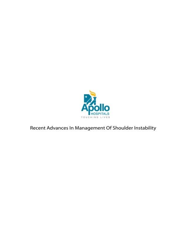 Recent Advances In Management Of Shoulder Instability