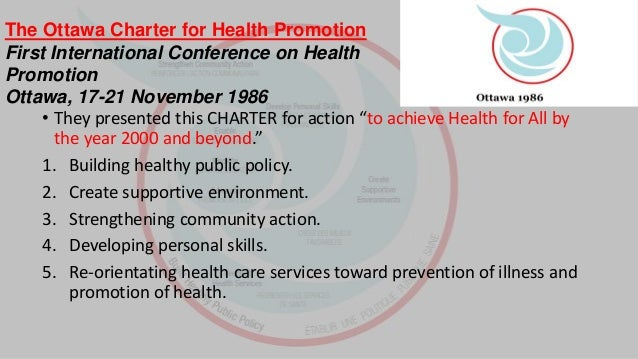 Health Promotion: Ottawa Charter | The HIV/AIDS Network