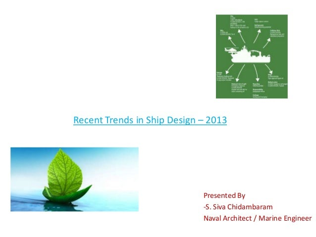 Recent Trends in Ship Design – 2013 Presented By -S. Siva Chidambaram Naval Architect / Marine Engineer