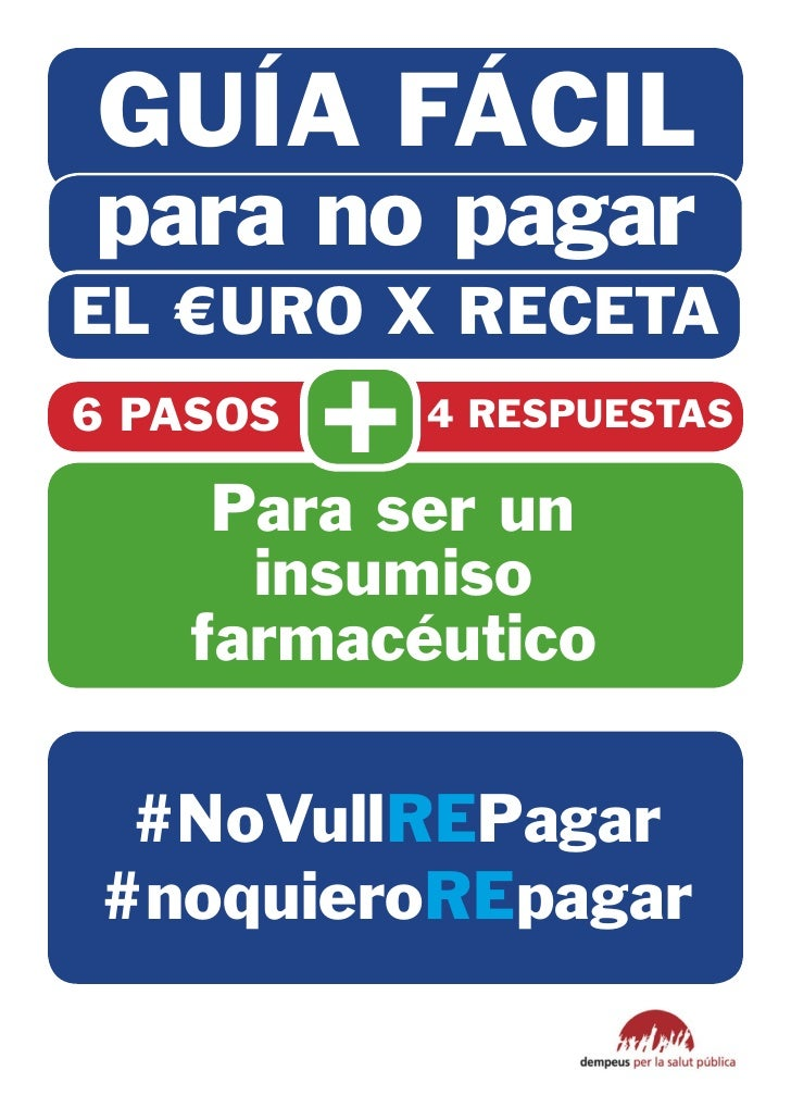GUÍA FÁCILpara no pagarEL €URO X RECETA6 PASOS          +   4 RESPUESTAS    Para ser un     insumiso   farmacéutico #NoVul...