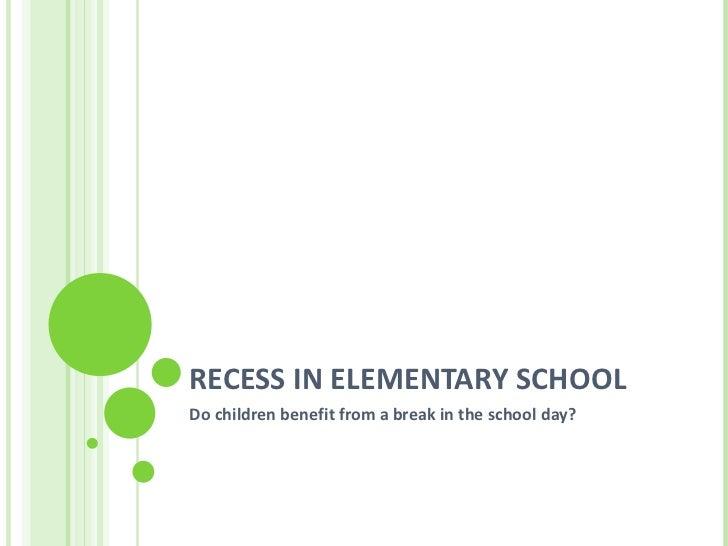 Recess in elementary school