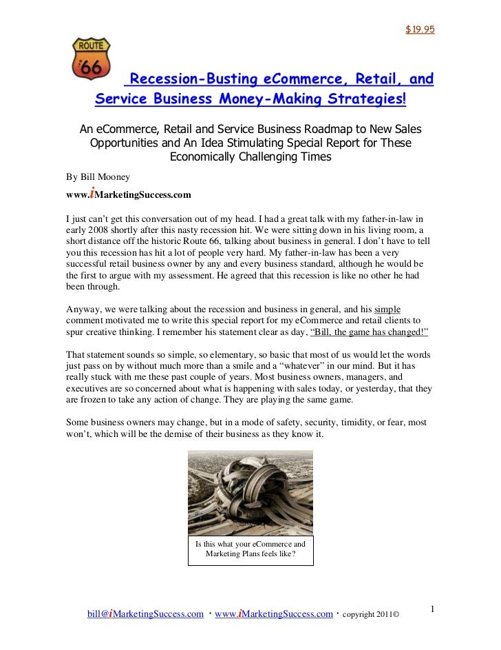$19.95               Recession-Busting eCommerce, Retail, and          Service Business Money-Making Strategies!   An eCom...