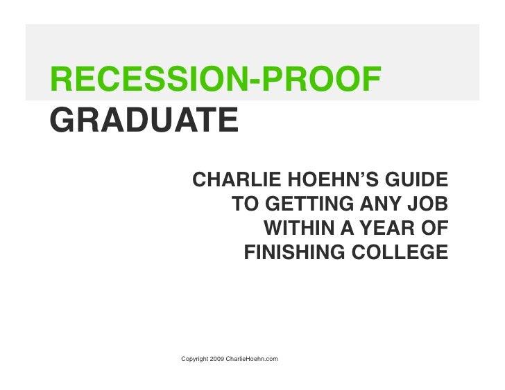 Recession-Proof Graduates