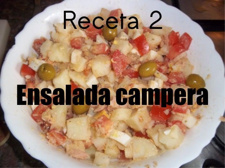 Receta 2 Ensalada campera