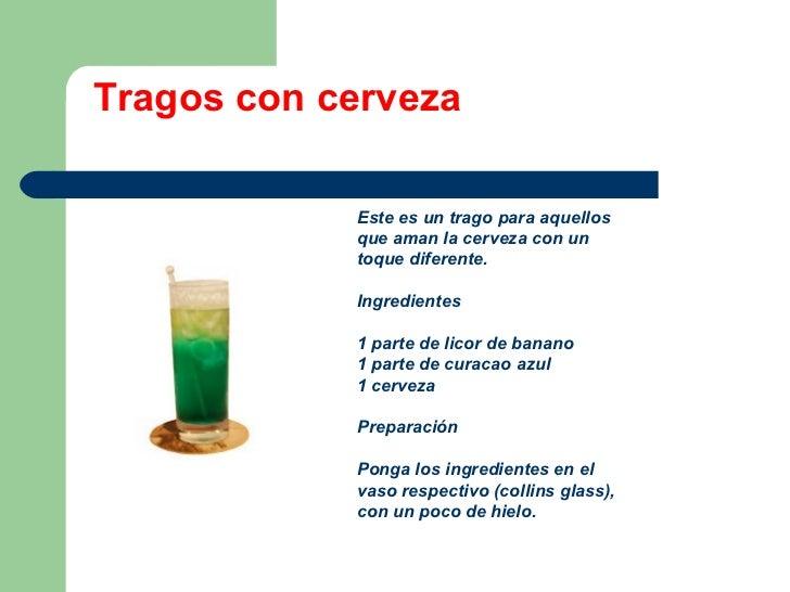 Receta Para Preparar Bebidas Con Cervezas - Cocteles Para Preparar ...