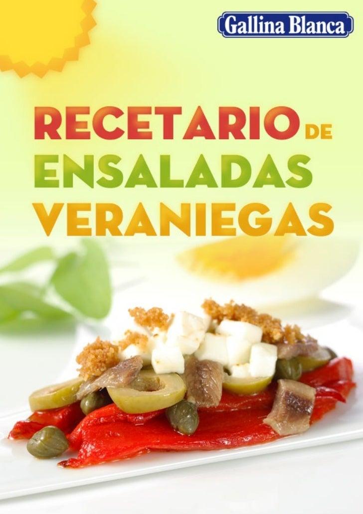 Recetario de ensaladas veraniegas