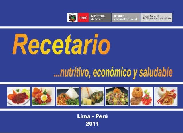 ...nutritivo, económico y saludableRecetarioRecetarioRecetario...nutritivo, económico y saludable...nutritivo, económico y...
