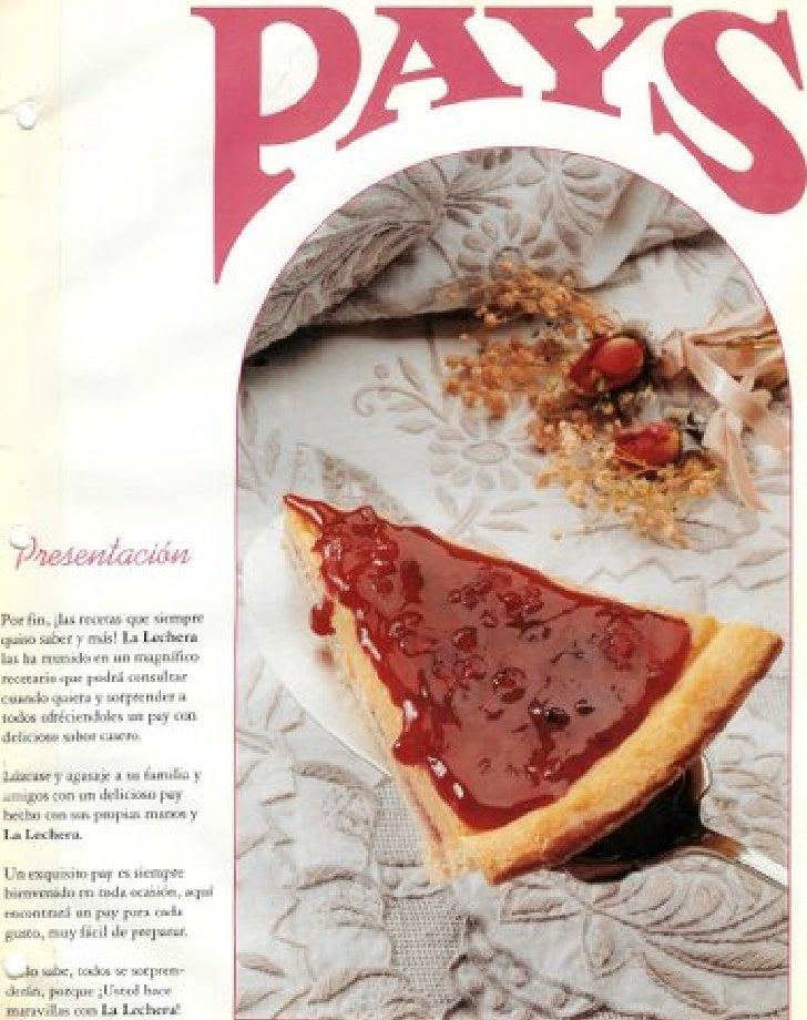 Recetario Nestle Pays Tortas