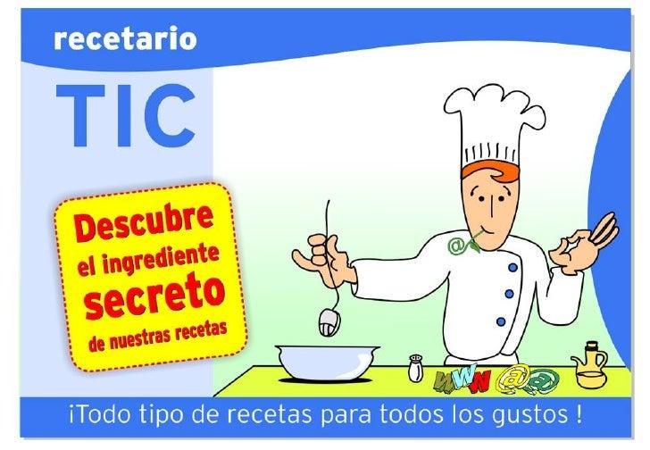 Recetario TIC - Implementación TIC en la escuela.
