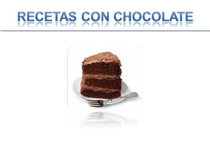 Recetas de chocolate.ppt #5