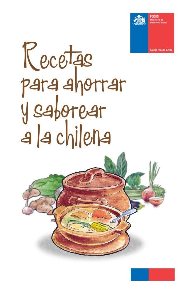 """""""Recetas para ahorrar y saborear a la chilena"""""""