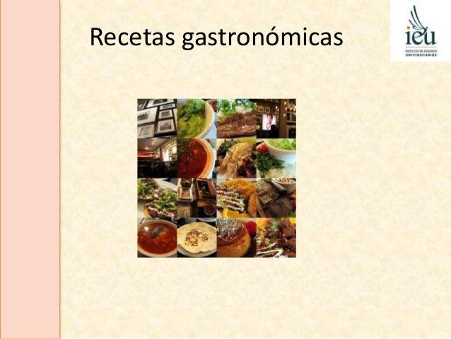 Recetas gastronómicas