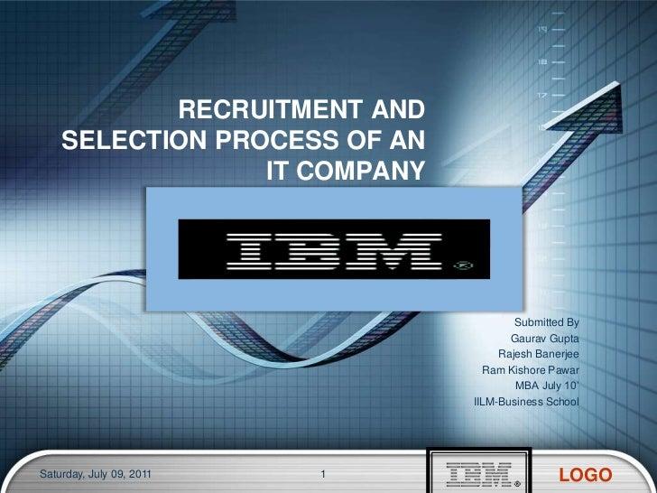 Recruitment process Of IBM