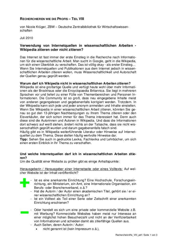 RECHERCHIEREN WIE DIE PROFIS – TEIL VIIIvon Nicole Krüger, ZBW – Deutsche Zentralbibliothek für Wirtschaftswissen-schaften...