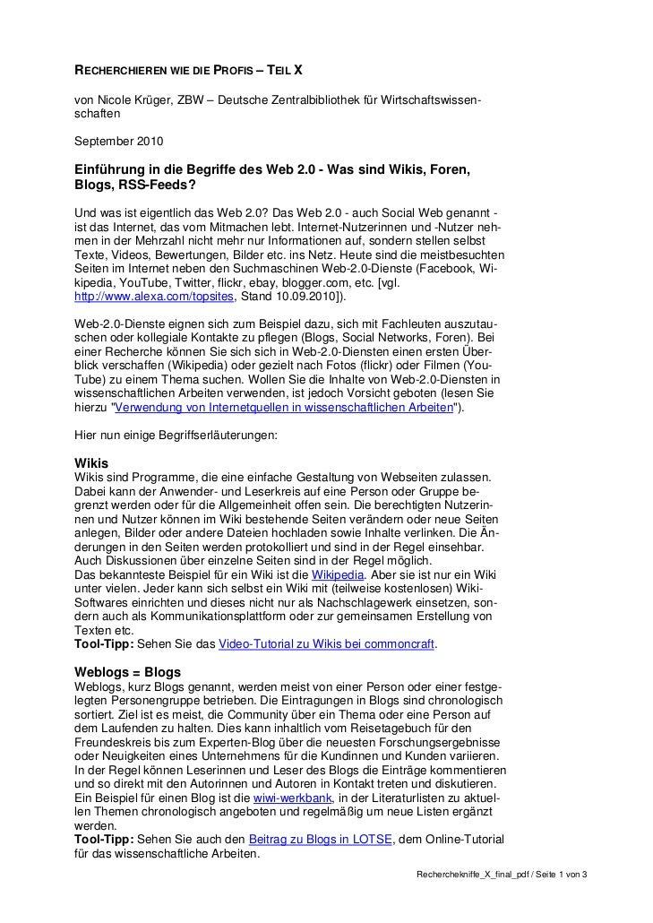 RECHERCHIEREN WIE DIE PROFIS – TEIL Xvon Nicole Krüger, ZBW – Deutsche Zentralbibliothek für Wirtschaftswissen-schaftenSep...