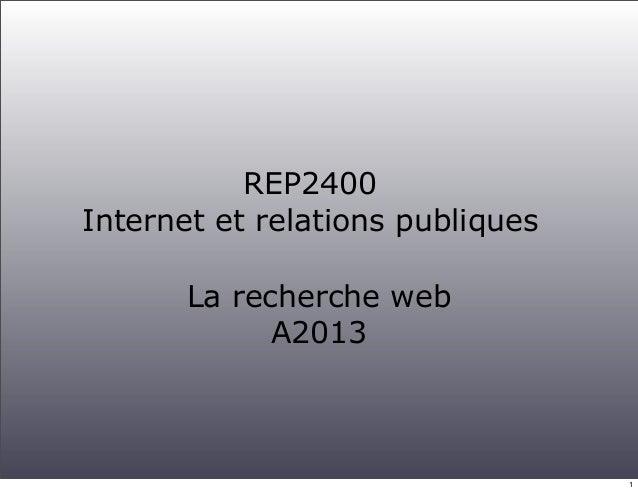 Recherche web 2013