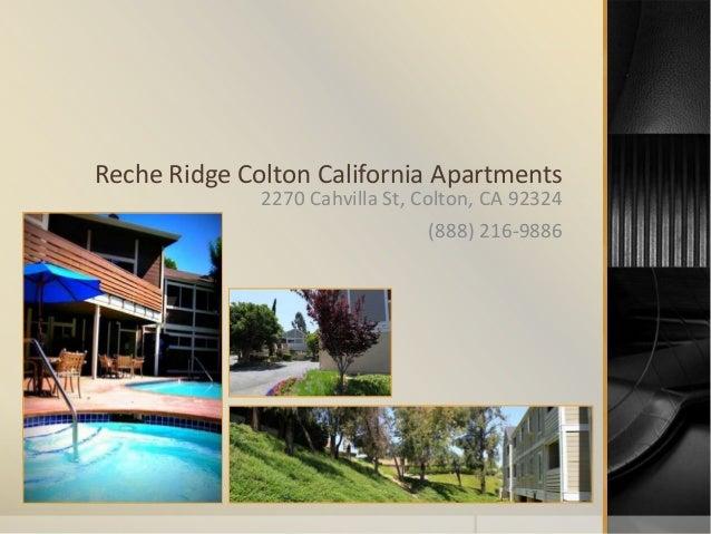 Reche Ridge Apartments Colton Ca