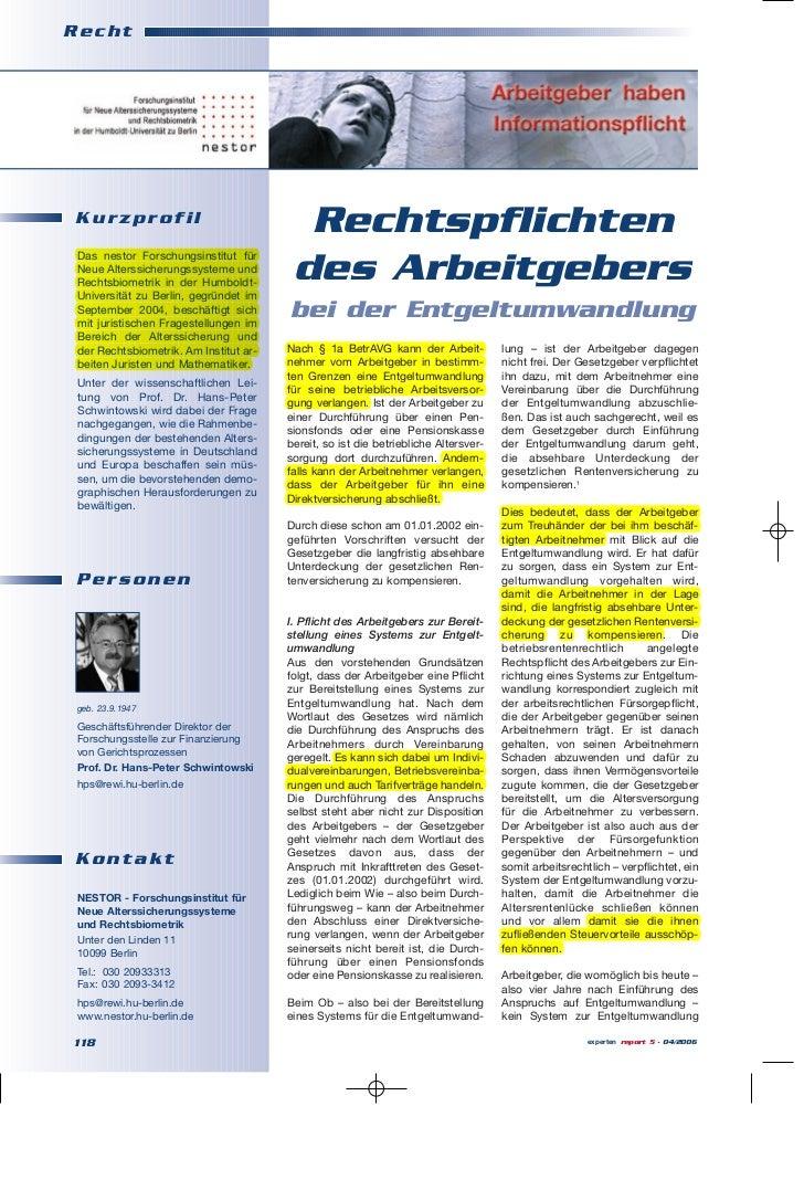 RechtKurzprofil                                          Rechtspflichten Das nestor Forschungsinstitut für Neue Alterssich...