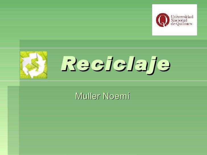 Reciclaje Muller Noemí