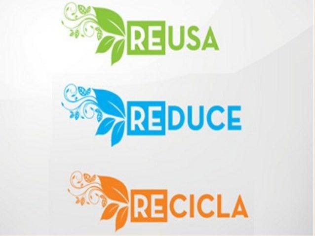 ¿Que son las tres R ? Reusa Reduce Recicla
