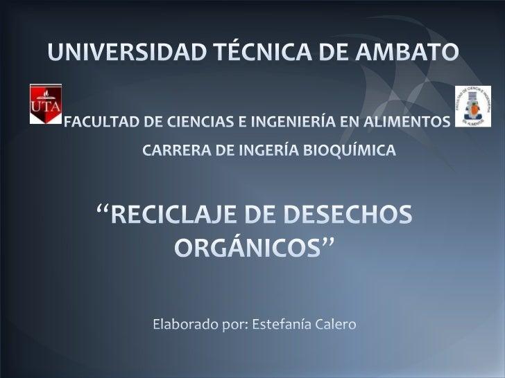 Reciclaje de Desechos Orgánicos